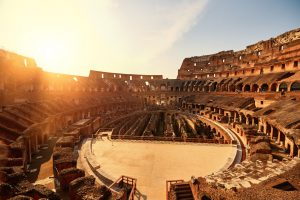 Colliseum in the sunset